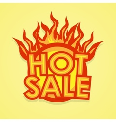 Hot sale badge vector image