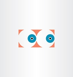 Human eyes icon sign vector