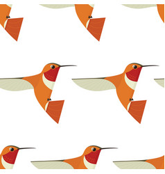 Humming bird seamless pattern vector