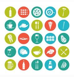 Icon set summer food vector