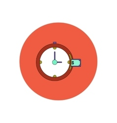 In flat design of time is vector