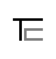 initial letter te design logo vector image