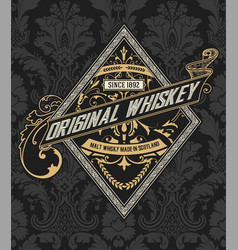 liquor label with design elements vector image