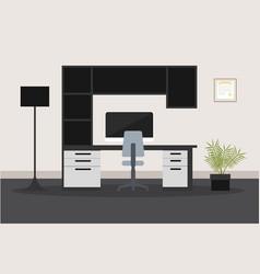 modern composite desk design vector image