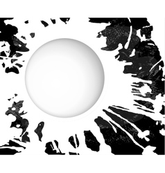 monochrome grunge background blot vector image