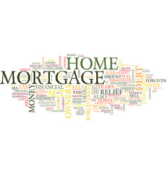 Mortgage forgiveness debt relief act what vector