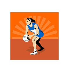 Netball player vector