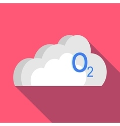 O2 cloud icon in flat style vector image