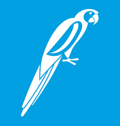 Parrot icon white vector