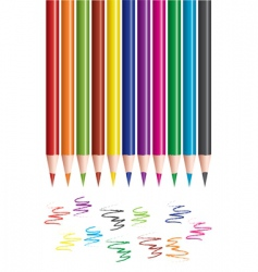 pencils and scribbles vector image