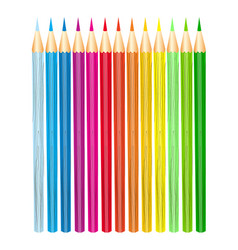 pencils color set vector image