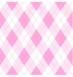 Pink argyle seamless pattern backgrounddiamond vector