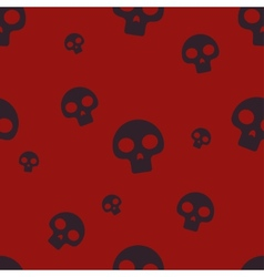 Red Small Skull Pattern vector