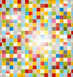 Retro Abstract Background - Colorful Squares vector image