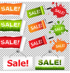 Sale elements set vector