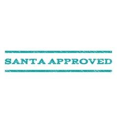 Santa Approved Watermark Stamp vector