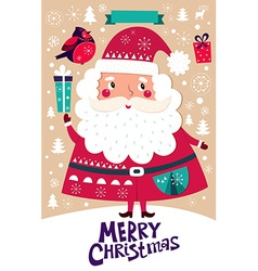 Santa Claus Christmas banner vector