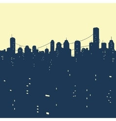 Seamless pattern City Buildings vector