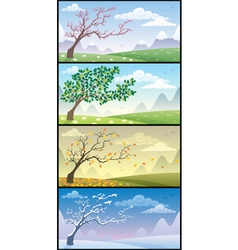 season landscapes vector image