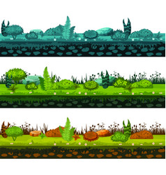 set of different types of of soil and land with vector image