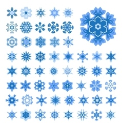 Set of snowflakes for Christmas vector image