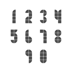 Simple Tiled Numbers vector image