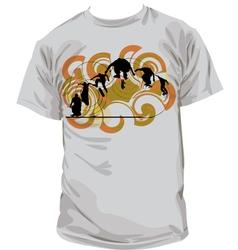 Skater T-shirt vector