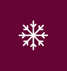 Snowflake icon simple vector