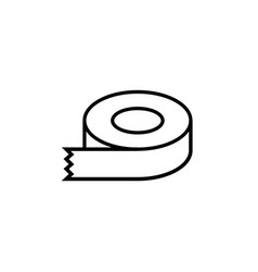 Sticky tape line icon dispenser drawing vector