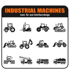 Symbols of construction machines vector