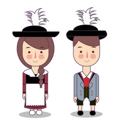 traditional national clothes of germany bavaria vector image