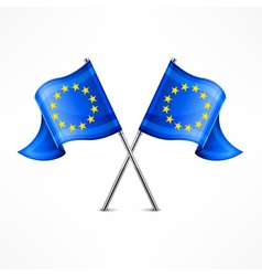 Two European flag vector image