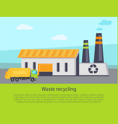 Waste recycling poster text vector