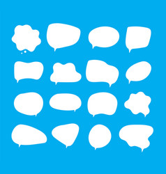 white bubbles talk speech bubbles different vector image