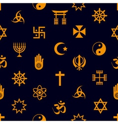 world religions symbols icons seamless pattern vector image vector image