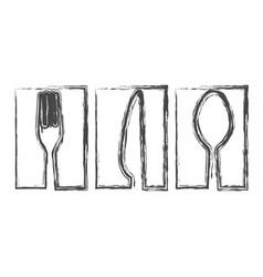 contour symbol cutlery food icon vector image vector image
