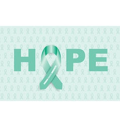 ovarian cancer ribbon vector image vector image