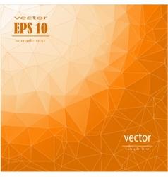 polygonal orange background vector image vector image