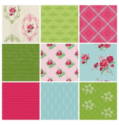 Seamless background Collection vector image vector image