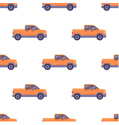 transport isolated classic pickup seamless pattern vector image