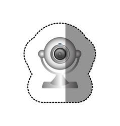 white computer camera icon vector image vector image