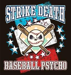 baseball psycho vector image vector image