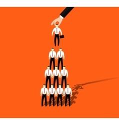 Businessmen promotion to higher position vector image