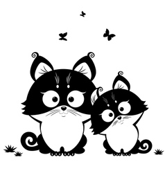 cat black vector image vector image
