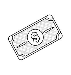 line bill dolar money vector image