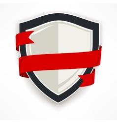 Shield with ribbon vector image vector image