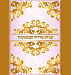a wedding invitation card for a wedding with a vector image vector image