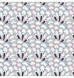 Doodle seamless pattern with flowers vector image vector image