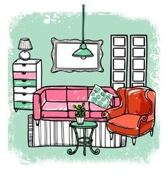 Furniture Sketch vector image