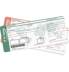 Pattern of two boarding pass or air ticket vector